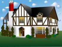 Engelse Stijl Tudor vector illustratie