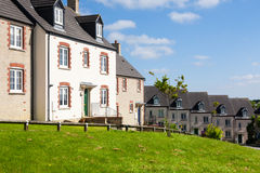 Engelse Terrasvormige Huizen Royalty-vrije Stock Foto