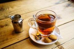 Engelse thee met Melk in het UK royalty-vrije stock afbeelding