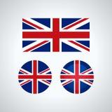 Engelse triovlaggen, illustratie vector illustratie