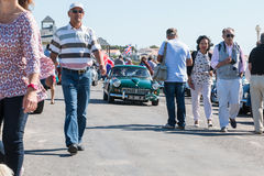 Engelse uitstekende autoverzameling in de straat Royalty-vrije Stock Fotografie