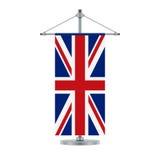 Engelse vlag op de dwars metaalpool, vectorillustratie stock illustratie