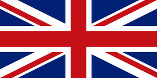 Engelse vlag, vlakke lay-out, vectorillustratie royalty-vrije stock afbeelding