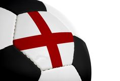 Engelse Vlag - Voetbal Royalty-vrije Stock Afbeelding
