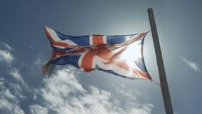 Engelse vlagopwinding stock video