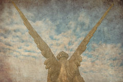 Engelsflügel im Himmel Lizenzfreies Stockfoto