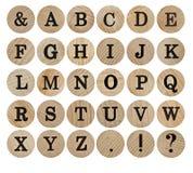 Engelsk alphabet Arkivfoto