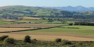 Engelsk bygd i sjöområdet Cumbria Arkivbilder