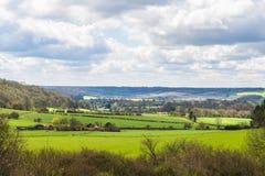 Engelsk bygd på våren Hertfordshire, UK arkivfoto