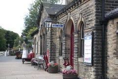 engelsk gammal järnväg stationsvictorian Royaltyfri Foto