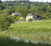 engelsk gloucestershiremonmouthshireRiver Valley wales wye arkivbilder