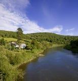 engelsk gloucestershiremonmouthshireRiver Valley wales wye Royaltyfri Fotografi
