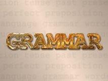 engelsk grammatik royaltyfri illustrationer