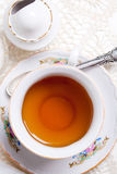 engelsk hög tea Arkivfoton