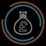 Engelsk illustration för pundpengarpåse vektor illustrationer