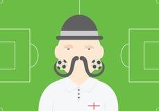 Engelsk illustration för vektor för fotbollspelare Begreppsmässig illustration för England fotbollslag Arkivfoton