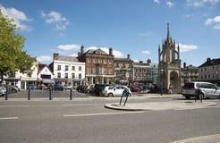 Engelsk köping av Devizes Wiltshire UK Arkivfoto