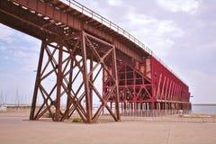 Engelsk kabel Industriell historia av Almeria royaltyfria foton