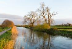 Engelsk kanal Bridgwater och Taunton västra England UK arkivbild