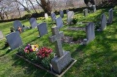 Engelsk kyrkogård. Royaltyfri Fotografi