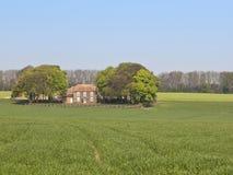 Engelsk landslantgård Arkivbild