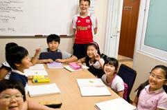 engelsk södra korea skola Arkivbilder