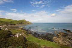 engelsk scenisk seacoast arkivfoton