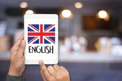 ENGELSKA (brittisk England språkutbildning) lär engelskt LAN Royaltyfria Bilder