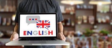 ENGELSKA (brittisk England språkutbildning) talar du engl Royaltyfri Fotografi
