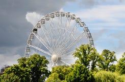 engelska ferris parkerar hjulet Fotografering för Bildbyråer