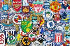 Engelska fotbollklubbor stock illustrationer