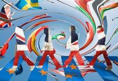 Engelska går i väg från Europa 2 Arkivbild