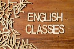 Engelska grupper för ord Royaltyfri Bild