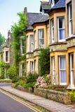 engelska hus Arkivfoton
