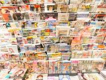Engelska och amerikanska tidskrifter Royaltyfri Foto