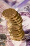engelska pengar Fotografering för Bildbyråer