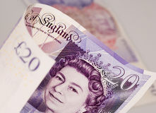 engelska pengar arkivfoto