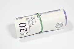 Engelska pund ett pund sterlingpengar Arkivbild