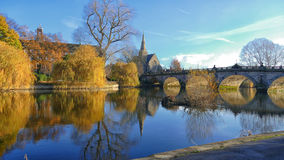 Engelskabro Shrewsbury Royaltyfria Foton