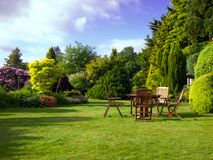 engelskaträdgård royaltyfria foton