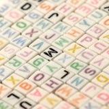 Engelskt alfabet för Abc Royaltyfria Foton