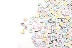 Engelskt alfabet för Abc som bakgrund Royaltyfri Fotografi