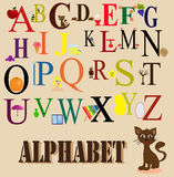 Engelskt alfabet för barn Fotografering för Bildbyråer