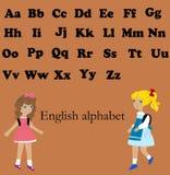 Engelskt alfabet för barn Arkivbild