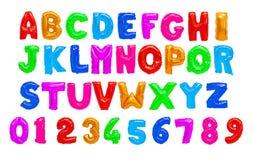 Engelskt alfabet för färg stock illustrationer