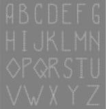 Engelskt alfabet från paperclip Royaltyfri Fotografi
