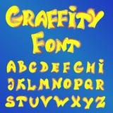 Engelskt alfabet i grafittistil Fotografering för Bildbyråer