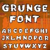 Engelskt alfabet i grungestil Royaltyfri Bild