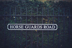 Engelskt gatatecken Royaltyfria Foton