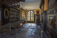Engelskt herrgårdhus - Yorkshire - England Arkivbilder